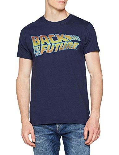 Unbekannt Logo T-Shirt, Blu (Blu Marino), M Uomo