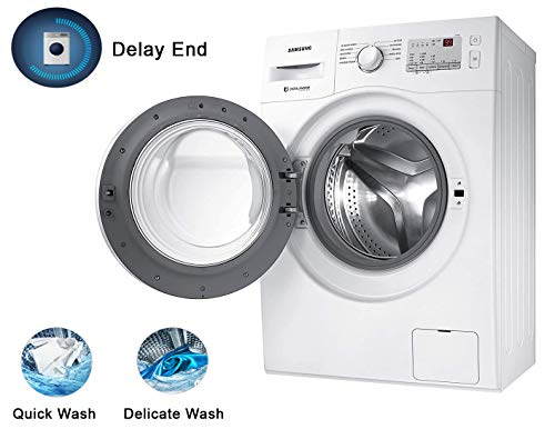 Samsung 6.0 Kg Inverter 5 Star Fully-Automatic Front Loading Washing Machine (WW60R20GLMA/TL, White, Hygiene Steam)