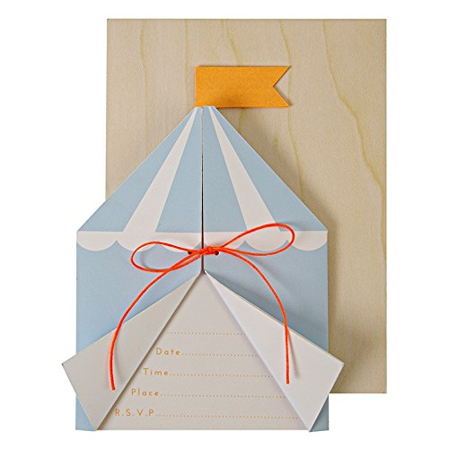 Carton d'invitation Circus Silly - Meri Meri