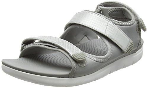 Fitflop NEOFLEX BACK-STRAP SANDALS, Femme, Multicolore Soft Grey Silver 579, 40 EU
