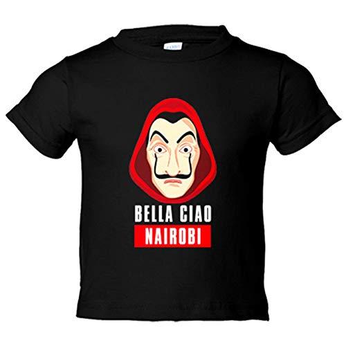 Camiseta niño Bella Ciao Máscara Dalí Nairobi - Negro, 12-14 años