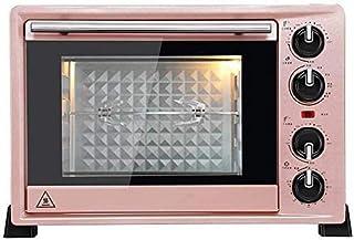 Mini 36L Horno con ajuste de temperatura de 100-250 ℃ y 0-60 minutos temporizador 1500W tres capas cristal de la puerta del horno de oro rosa Pequeños Electrodomésticos hsvbkwm
