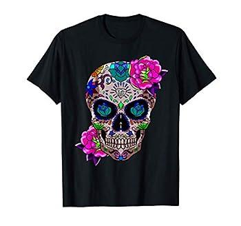 Sugar Skull Day Of The Dead Cool Bone Head Skulls Gift Idea T-Shirt