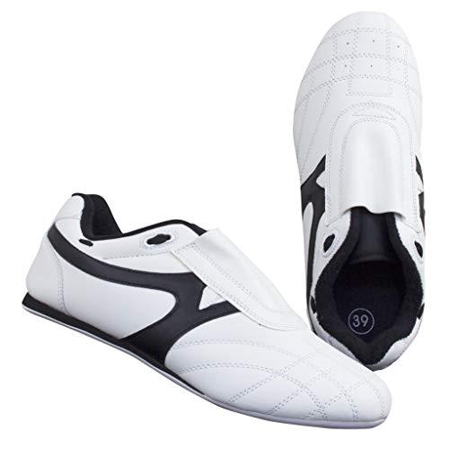 BAY® BUDO-MAX weiß Schuhe Kampfsport TKD Trainingsschuhe Kampfsportschuhe (41)