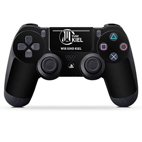 DeinDesign Skin kompatibel mit Sony Playstation 4 Pro Controller Folie Sticker Handball THW Kiel Fanartikel