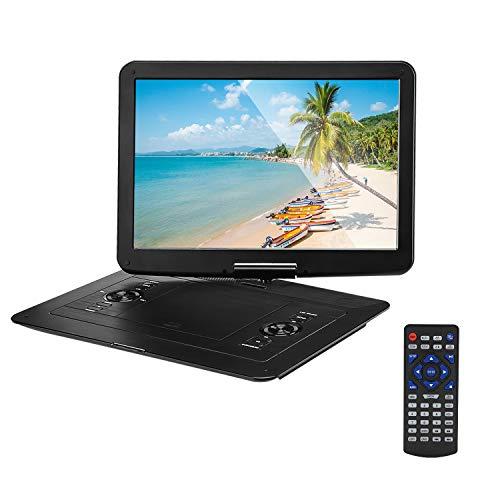 GWX Smart Draagbare CD-speler, mobiele dvd-speler, 14,1 inch digitaal HD-LED-LCD-scherm ondersteunt USB en geheugenkaart lezen voor televisie en games