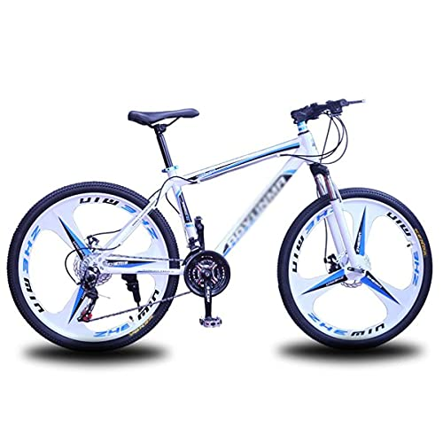 Bicicleta de montaña con suspensión Delantera Unisex para Adultos, 26', 21/24/27 velocidades, Bicicleta MTB Adecuada para Hombres y Mujeres, entusiastas del Ciclismo (tamaño: 21 velocidades, Color: v