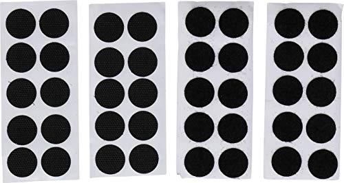 Kraftmann 80557 | Klettpunkte | 40-tlg | selbstklebend | schwarz | Ø 20 mm | Klebepunkte