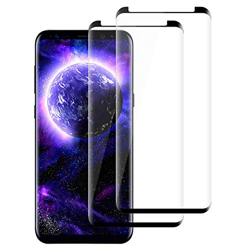 Protection Ecran Samsung Galaxy S9 Plus, [Lot de 2] Film Verre Trempé, 9H Dureté - sans Bulles - Anti-Rayures - Anti-Empreintes Digitales - HD Ultra Transparent