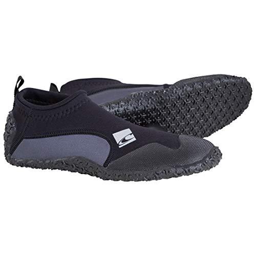 ONEILL WETSUITS Coronel Adultos Trajes de Neopreno Zapatos Botas Reef thermonuclear, Todo el año, Unisex, Color Negro - Black/Coal, tamaño 43