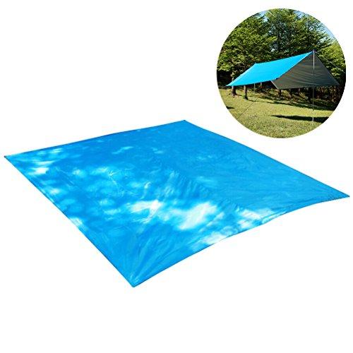 WINOMO Hamac Rain Fly Tente Bâche Essential Survival Gear Compact léger facile à Configurer Tente pour camping randonnée avec piquets (Bleu)