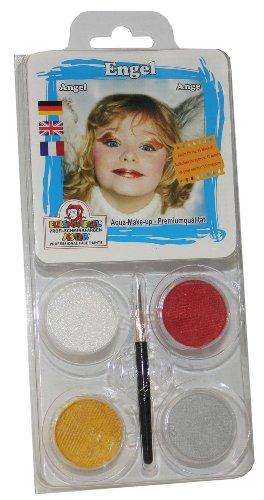 Eulenspiegel 204924 Set de maquillage Ange avec pinceau et instructions 4 couleurs