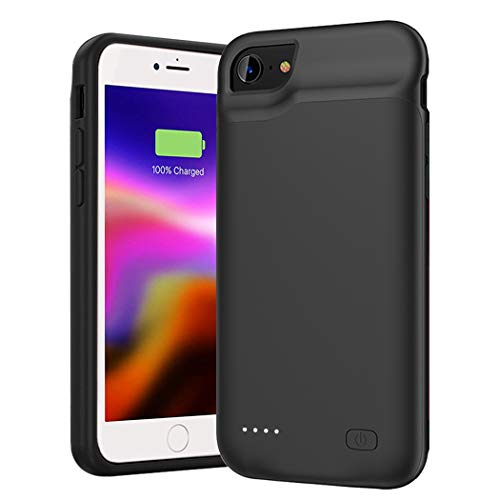 Battery Case for iPhone SE 2020(2nd Generation)/8/7/6s/6, 6000mAh Portable Rechargeable Charger Case Compatible with iPhone 8/7/6s/6/SE 2020(2nd Generation) (4.7 inch) External Battery Charging Case