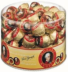 50 Pieces Salzburger Mozartkugeln 825g Imported from Austria With UTZ Certified Cocoa