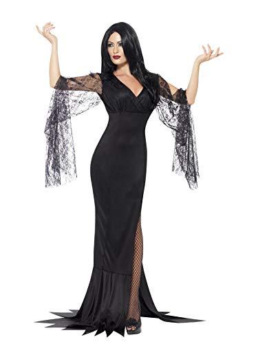 Smiffys 43726X1 Costume Immortal Soul Kostüm, Schwarz, XL - UK Size 20-22