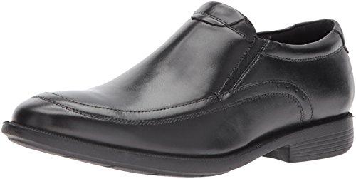 Nunn Bush Men Dylan Moc Toe Slip On Loafer with KORE Comfort Walking Technology, BLACK, 11