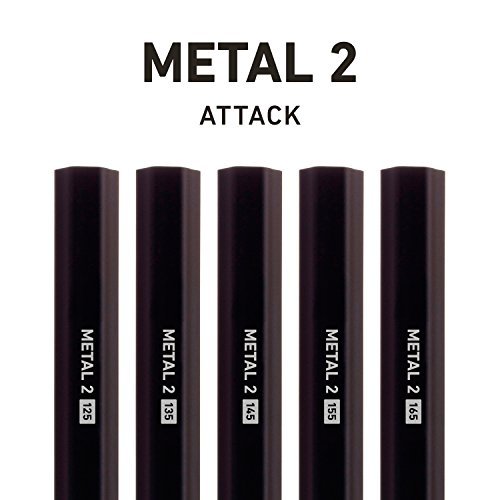 StringKing Metal 2 125 Attack Lacrosse Shaft Black