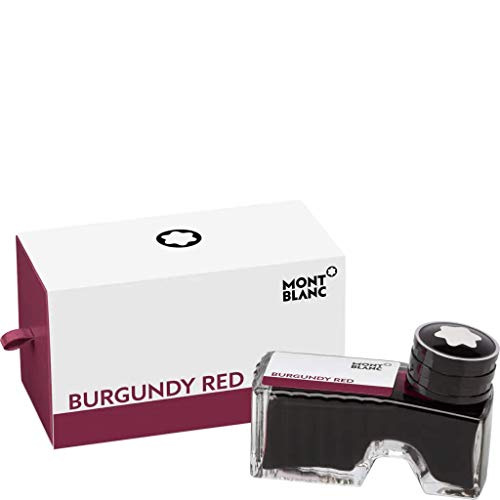Montblanc Ink Bottle Burgundy Red 105198 – Premium-Quality Refill Ink in Deep Red for Fountain Pens, Quills, and Calligraphy Pens – 60ml Inkwell