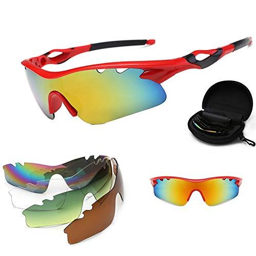 ZKAMUYLC Fietsbril 2019 Fotochrome Fietsbril Fiets Fiets Zonnebril Outdoor Sport MTB Rijbril Bike Eyewear 5 Lens