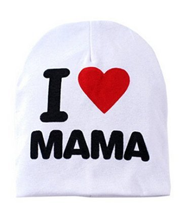 5Five garçon fille Mode tendance pour bébé Infant enfant Chapeau Bonnet en tricot Coton chaud Hiver capuchon, Mama White, Taille unique