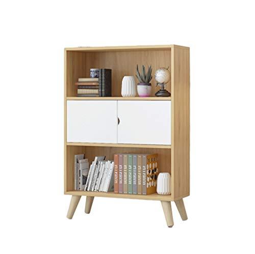 Jixi Librero Nordic Simple estantería Baja Dormitorio Tabla Student Home Living Almacenamiento Librero pequeño Estante Estantería para Libros (Color : Wood Color)