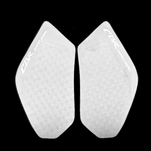 KYN Für Honda CBR600RR 2003 2004 2005 2006 Motorrad Transparent 3M Gas Tank Pad Anti-Rutsch Aufkleber Seite Kraftstoff Gas Grip Aufkleber Protector (weiß)