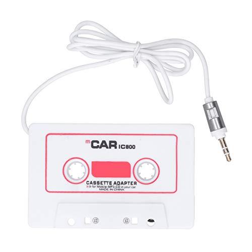 HAOX Adaptador de Cinta de Coche, Adaptador de Cubierta de Cinta de Casete de Coche Universal Mini Enchufe de plástico ABS para MP4 para teléfono móvil para MP3