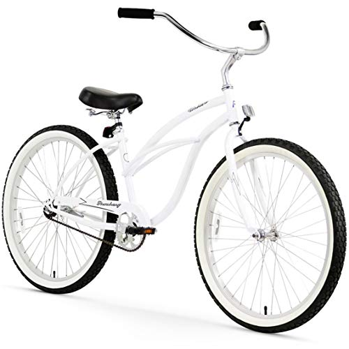 Why Choose Firmstrong Urban Lady Single Speed - Women's 26 Beach Cruiser Bike (White)