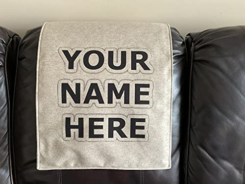 Custom made Headrest COVER, ADD YOUR NAME OR INITIALS. FURNITURE PROTECTORS, SLIPCOVER, SOFA, RECLINERS, OFFICE CHAIRS, GAMING CHAIRS. 17x27. By: Bittlemen Co.
