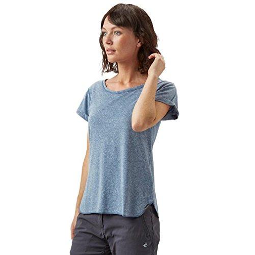 Columbia Trail Shaker Short Sleeve Shirt Camiseta de Manga Corta, Mujer, Azul (Bluebell Heather), XS