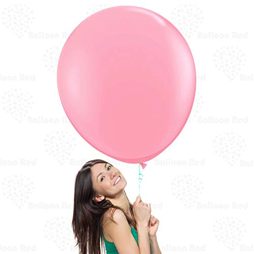 Pink 36 Inch Giant Latex Balloons 3 Pack Large Thickened Extra Strong Jumbo Big for Baby Shower Garland Wedding Photo Booth Birthday Party Supplies Arch Decoration Engagement Anniversary Christmas Fes