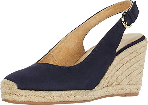 Naturalizer Women's Pearl Espadrilles Wedge, French Navy,5 M US