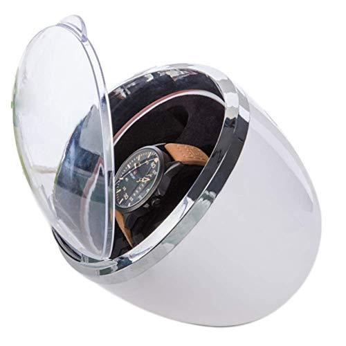 KAIBINY Caja de Reloj Watch Winder 2, Ronda Reloj automático de la devanadera del ABS del Medio Ambiente Material Silenciar a Prueba de Polvo Anti magnetización