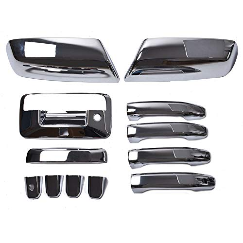 labwork Chrome Mirror+4 Door Handle+Tailgate+Camera Hole Cover for 15-18 Chevy Silverado/GMC Sierra