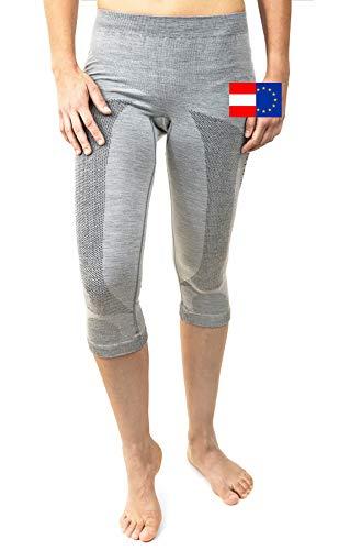 Merino & More Sous-vêtement fonctionnel en laine pour femme Longueur 3/4 Taille S
