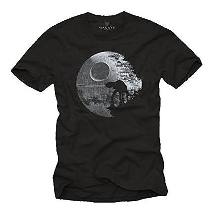 MAKAYA Camiseta Frikis Hombre Negra