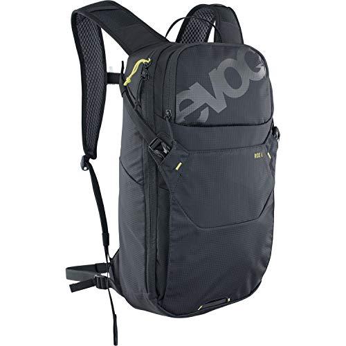 EVOC RIDE 8 Fahrradrucksack Bike-Rucksack für Trails und andere Aktivitäten (cleveres Taschenmanagement, belüftet durch AIR-PAD-Rückenpolsterung), Schwarz
