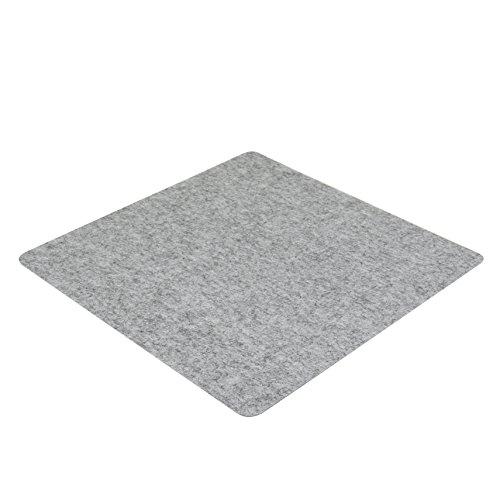 7even Filz Auflage 50 x 50 cm für z.B. Cube Hocker Grau - Einseitig 4mm