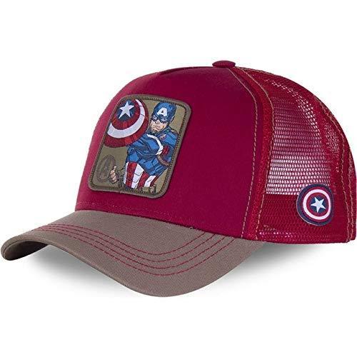 Nueva Gorra de béisbol de algodón Snapback para Hombres, Mujeres, Hip Hop, papá, Gorra de Malla, Gorra de Camionero-Super Red