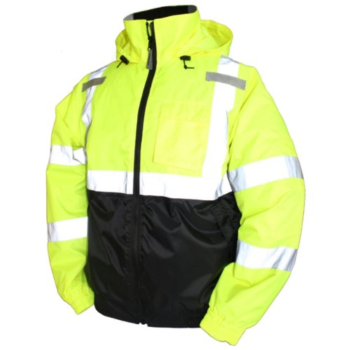 Best Prices! Hi-Vis Bomber Jacket, Class 3, Yellow, X-Large