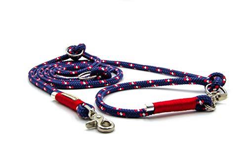 Hundeleine aus Tau | maritim & rot | verschiedene Längen und Taustärken