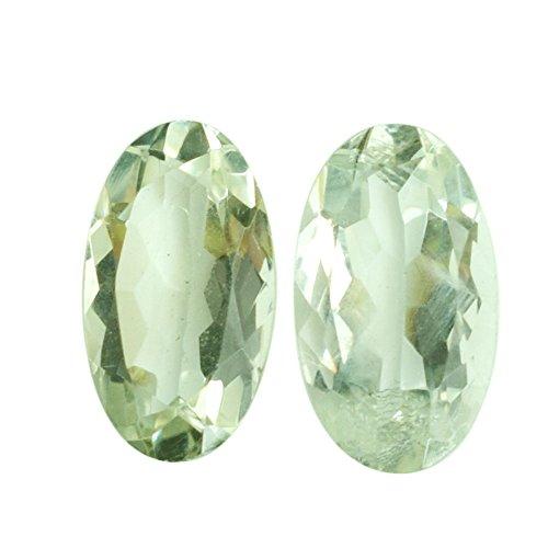 Par de pendientes ovalados de 13 quilates de amatista verde natural, cabujón, par de pendientes ovalados, con piedras de ajuste facetado, AG-7878