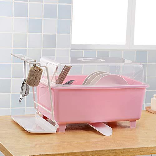 Ckssyao keukenplaat schotelrek met bodem afvoer pijp drogen rek lade servies afvoer rack hoge capaciteit Vaatwasser voor thuis planken