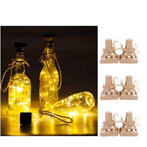 OUCRIY Solar Flaschenlicht Kork Flaschen Lichter LED Lichterketten wasserdicht Weinflasche Beleuchtung 20 LEDs 2M Nachtlicht für DIY, Party, Dekor, Weihnachten, Hochzeit