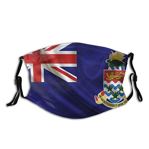 BYJHMB 3527x1984 Cayman Islands, Flag Cotton Washable Nose Wired Face Cover Filter Pocket Wide Cover with Filter