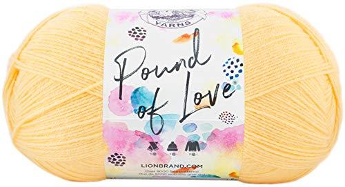 Lion Brand Yarn 550-158 Pound of Love Yarn, Each, Honey Bee
