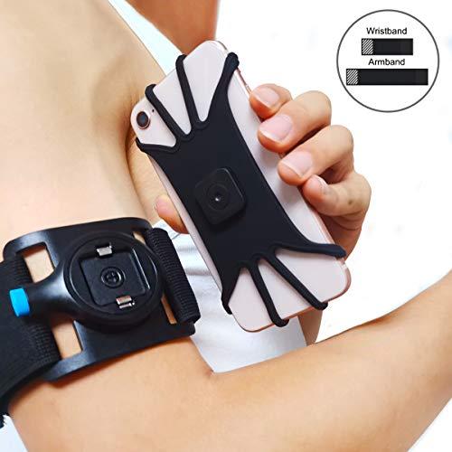 Cozycase Sportarmband Handy Armband Joggen Laufen Handyhalterung,für Arm und Handgelenk iPhone 12/11/11 Pro Max/X/XS/XR/XS Max/8/8 Plus/7/7 Plus, Galaxy Note 9/Note 8/ Sumsung S10/S10+/S10e/S9/S8/S7