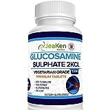 JeaKen - SULFATE DE GLUCOSAMINE 2KCl 1500mg | 365 Comprimés (Approvisionnement pour 1 An) | Végétariens et Végétaliens | Complement Alimentaire Anti Arthrose et Articulation Douloureuse