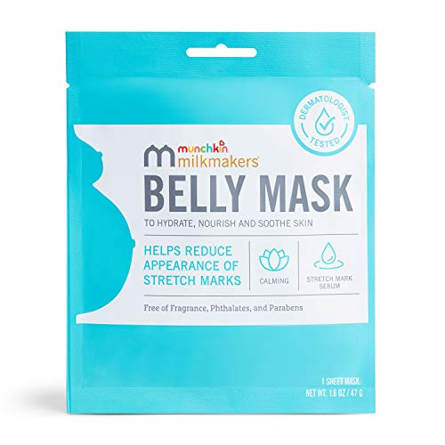 Munchkin Milkmakers Belly Mask for Pregnancy Skin Care & Stretch Marks, 1 Sheet Mask