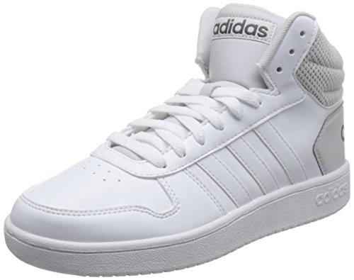 adidas Vs Hoops 2.0 Mid, Zapatos de Baloncesto Hombre, Blanco (Ftwwht/Greone Ftwwht/Ftwwht/Greone), 46 2/3 EU